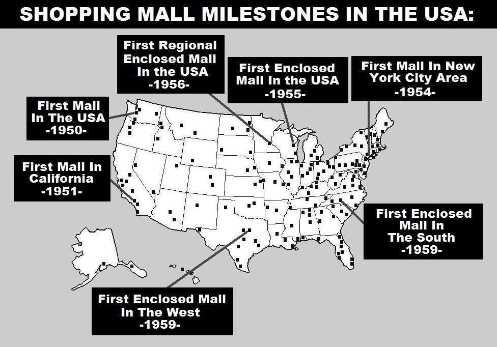 MALL HALL OF FAME - First shopping center in usa