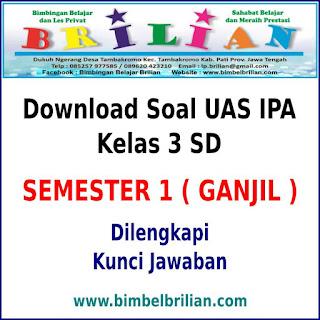 Download Soal UAS IPA Kelas 3 SD Semester 1 ( Ganjil ) dan Kunci Jawaban