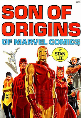 Son of Origins of marvel Comics, cover, John Romita, Iron Man, Daredevil, Silver Surfer, Nick Fury, Watcher, Scarlet Witch
