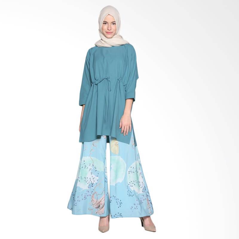 Ria Miranda Char Top Muslim Atasan Wanita - Blue