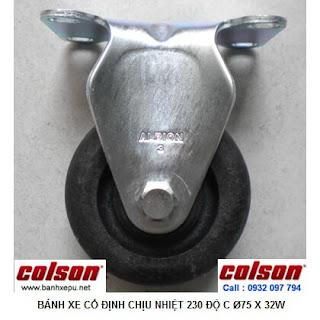 Bánh xe đẩy chịu nhiệt 230 độ C liên tục phi 75 Colson | A2-3308-52HT banhxepu.net