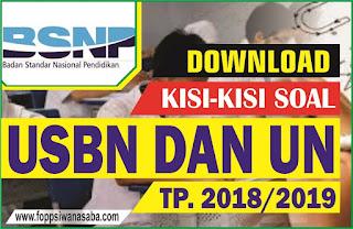 Kisi-Kisi Soal USBN dan UN 2018 dari BNSP Lengkap
