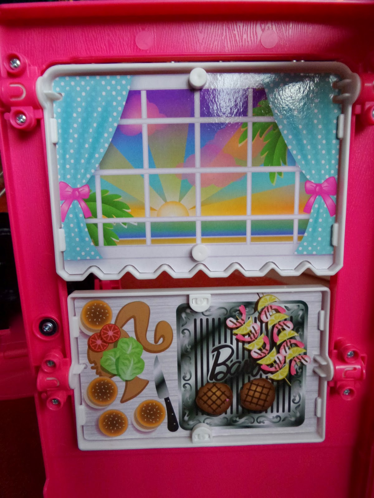 The inside back panel of the Barbie Glam Camper #Review