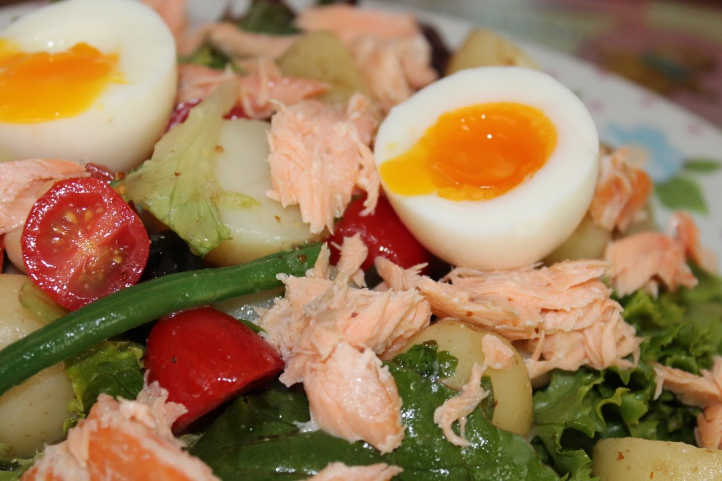 Smoked Salmon Nicoise Salad from Leanne Cornelius, A Slice Of My Life