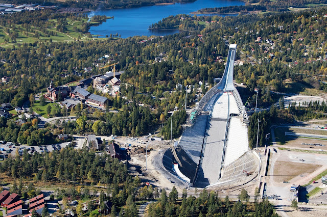 Holmenkollen Ski Jump Arena in Oslo, Norway. Photo Credits: Innovation Norway, Christopher Hagelund and Visitnorway.com. Unauthorized use is prohibited.