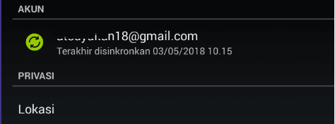 logout android email