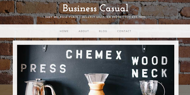 Business Casual - A Bootstrap 3 website template