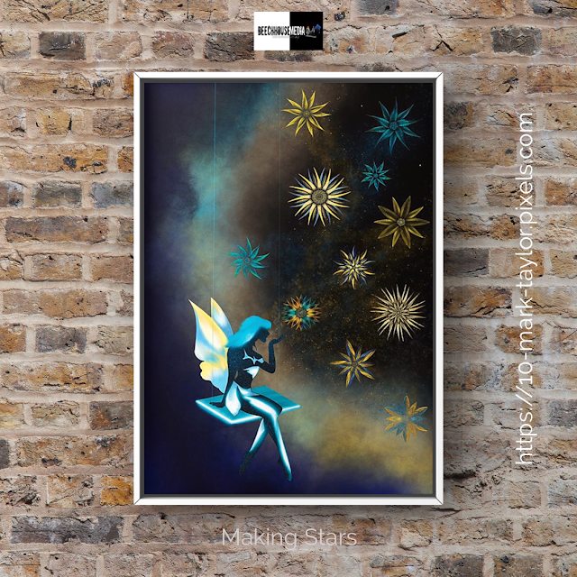 Making stars, artwork, mark taylor, artist, pixels,