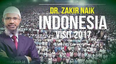 zakir naik visit indonesia