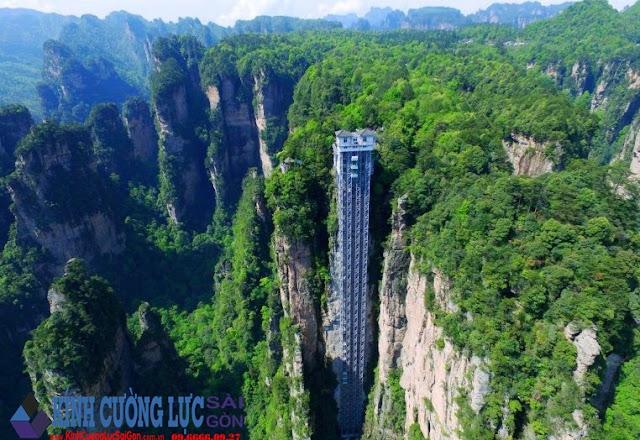 Thang máy Trăm Rồng ở Trung Quốc gây tranh cãi cộng đồng mạng