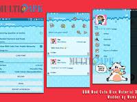 BBM Mod Cute Blue Material Design v2.12.0.9 Apk Terbaru