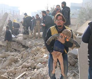 Syiah Suriah dan Komunis Rusia Bantai Warga Sipil di Ghouta Timur