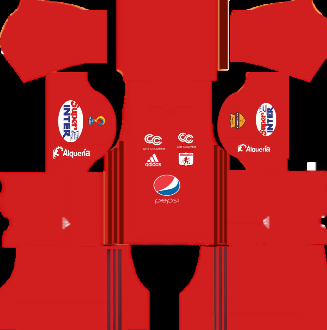 Kits para dream league soccer y fts 15 kits america de for Cuarto kit del america