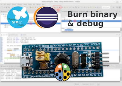 Upload binary and debug STM32 bluepill on Eclipse