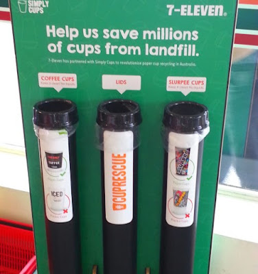 How to recycle paper coffee cups at your workplace or at 7-eleven