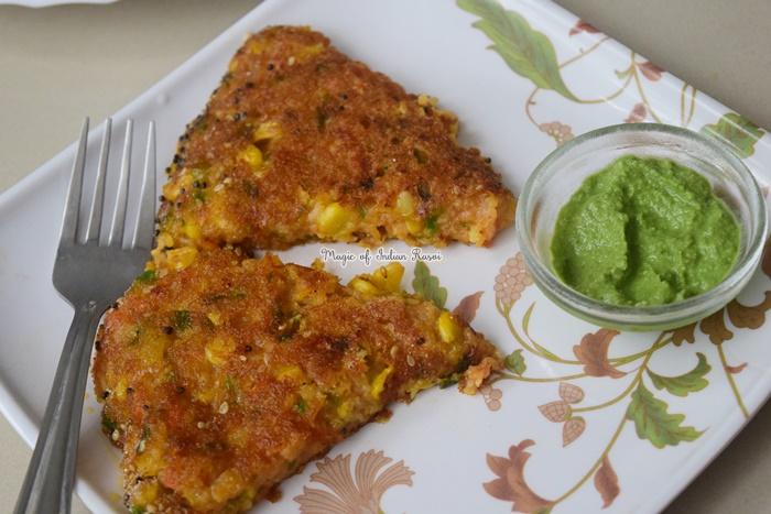 Instant Rava & Corn Handvo Recipe - इंस्टेंट सूजी कॉर्न का हांडवो रेसिपी - Priya R - Magic of Indian Rasoi