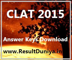 GNLU CLAT 2015 Official Answer Key Download Set Wise A B C D