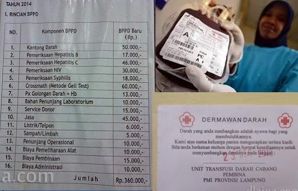 Harga Sekantong Darah, Kenapa Donor Darah Gratis Butuh Darah Bayar