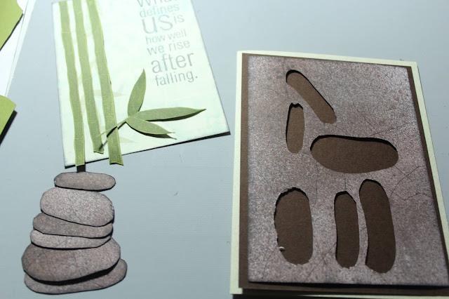 Granite Stipple Mist Technique card #clubscrap #mists #granite #bamboo