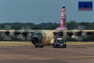 Royal Jordanian Airforce C-130H Transport Heavy lift RIAT Fairford airshow air display