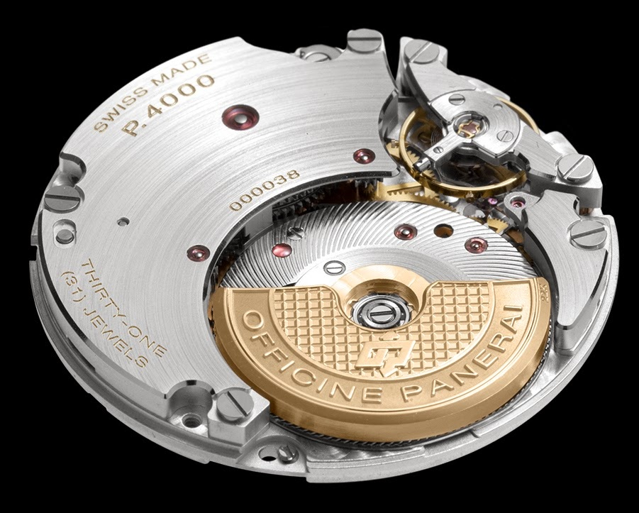Officine Panerai Presents P.4000 Calibre, the Manufacture's First Automatic Movement with a Decentralised Oscillating Weight