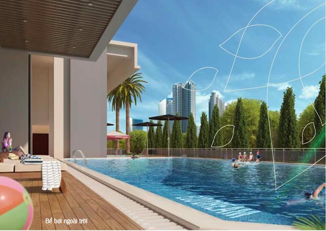 Phối cảnh Bể bơi tại Eco Dream
