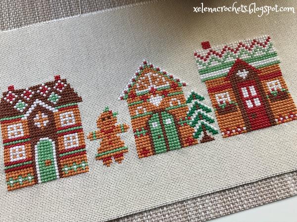новогодняя вышивка пряничный домик