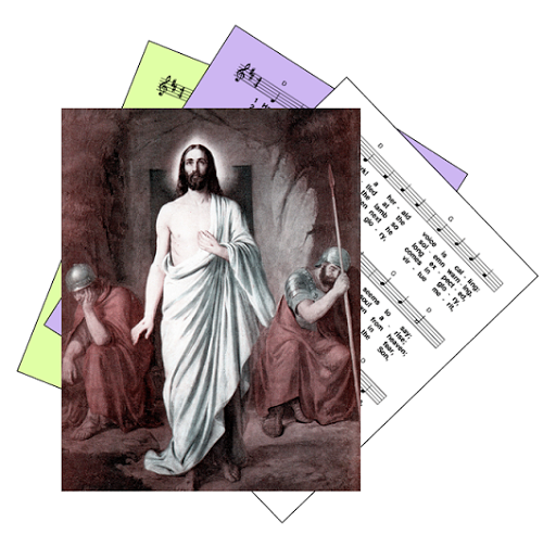 Hymns for celebrating Jesus resurrection at the Easter Vigil