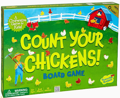 Count Your Chickens board game, part of bird theme preschool week