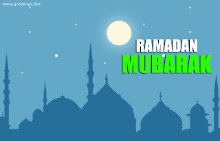 Ramadan Festival images with Ramadan mubarak mosque full moon