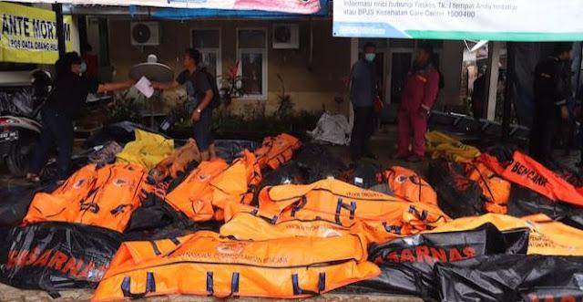Ini Data Jenazah Tsunami Banten yang Belum Diambil Keluarga, Masih Ditunggu Polda