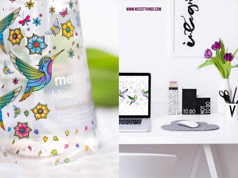 Method Schaumseife Special Edition und sauberer Schreibtisch in Weiss