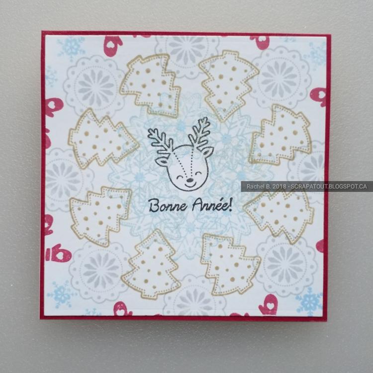 Handmade card, Christmas, Wreath builder