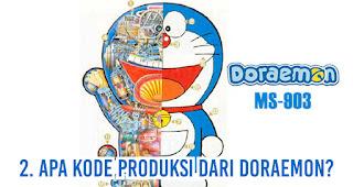 Apa kode produksi dari Doraemon?