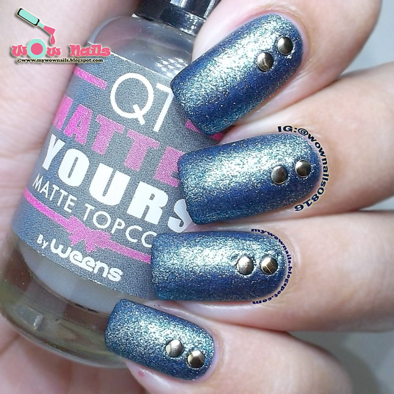 WoW Nails: QT Nail Color x Wow Nails: Easy Denim Nails