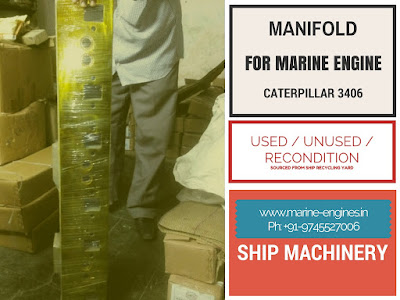 manifold, water cool, caterpillar, engine, generator, propulsion, used, recondition, ship, boat, machinery