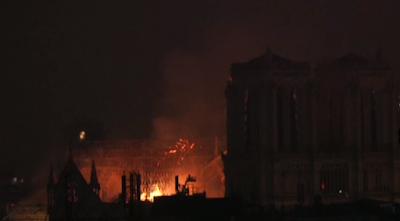 Notre Dame, tulipalo, kuvakaappaus