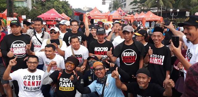 Tidak Ada Nasi Bungkus Kampanye #2019GantiPresiden Di CFD Bunderan HI