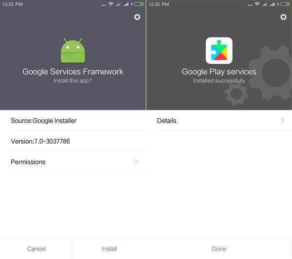 Install Google Play Store Installer Xiaomi