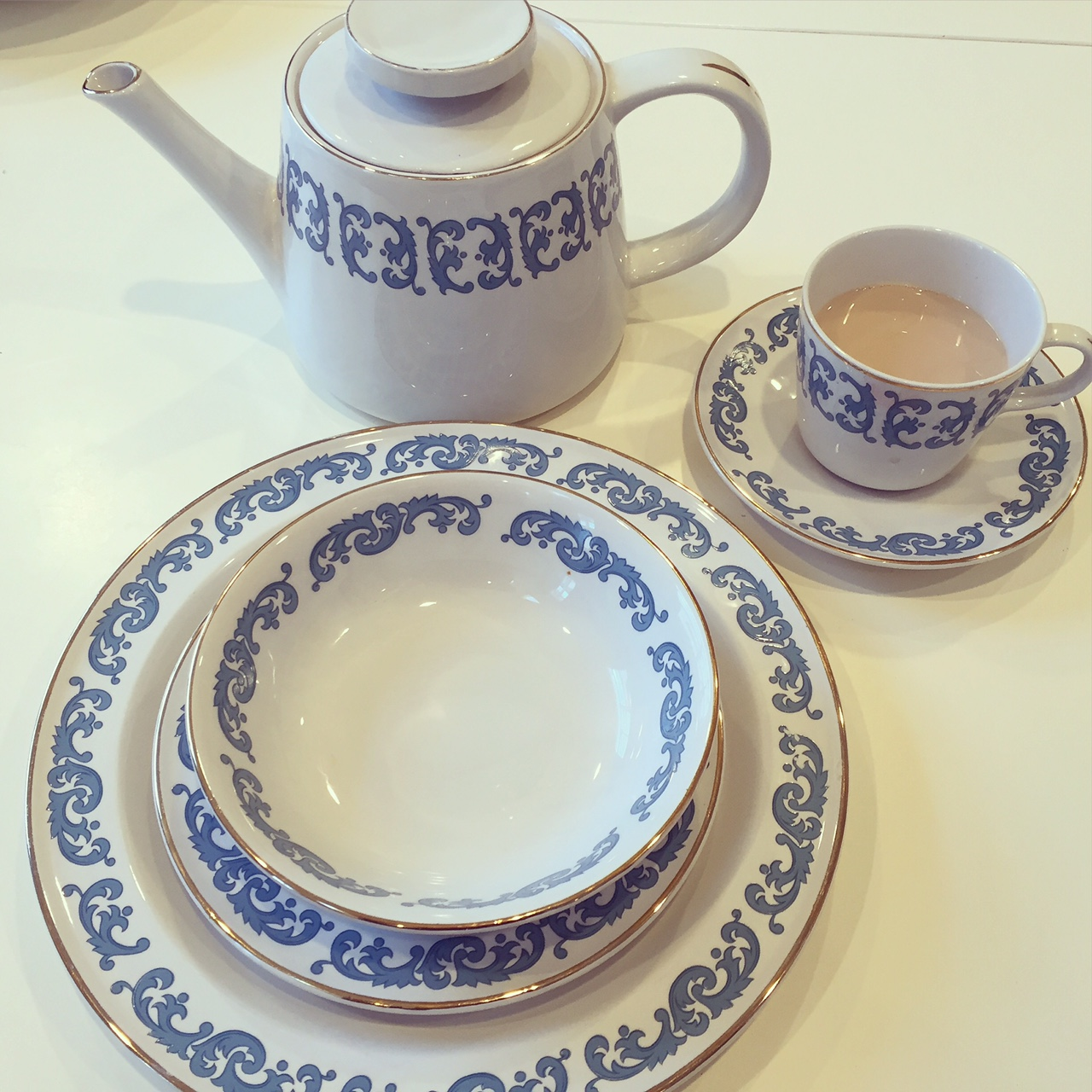 If you have a set of antique dishes I encourage you to use them on a regular basis. Not only is it fun to eat off of unique and beautiful plates ...  sc 1 st  The Daily Connoisseur - Blogger & The Daily Connoisseur: Antique Dishes vs. New Dishes (Portion Size)