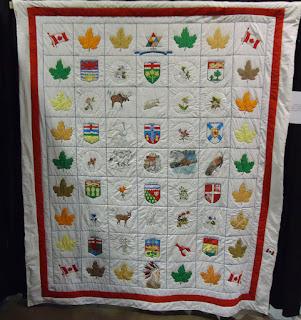 Traditional quilt celebration Canada's Centennial
