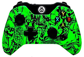 Xbox One Modded Controllers Green Skulls