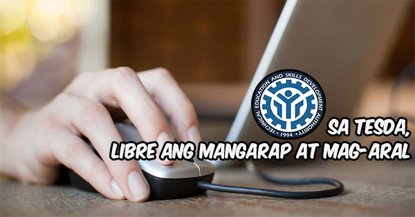 TESDA Offers Online Courses This 2016 With NO Tuition Fees Needed!