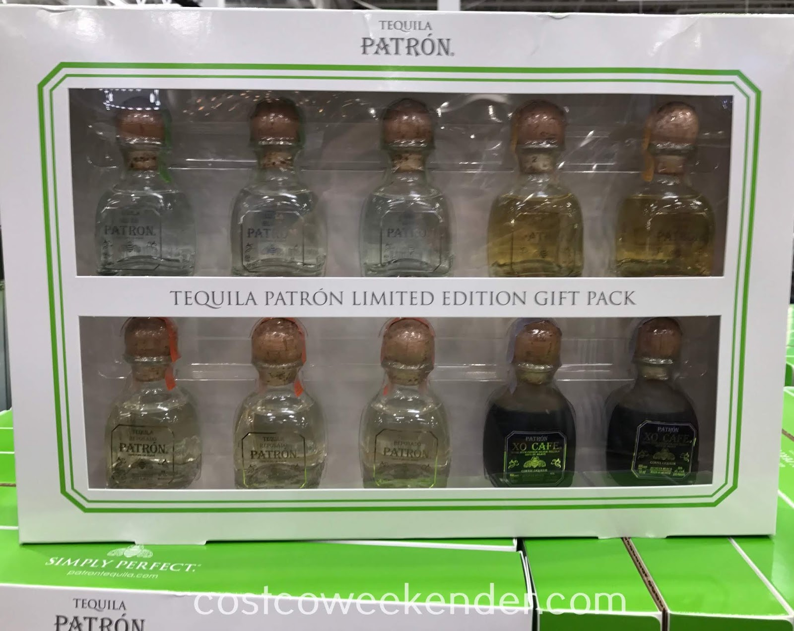 Enjoy a variety of tequila flavors with the Patron Tequila Limited Edition Gift Pack