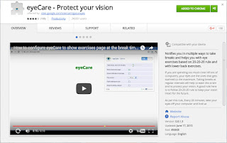 eyeCare - Protect your vision chrome extension