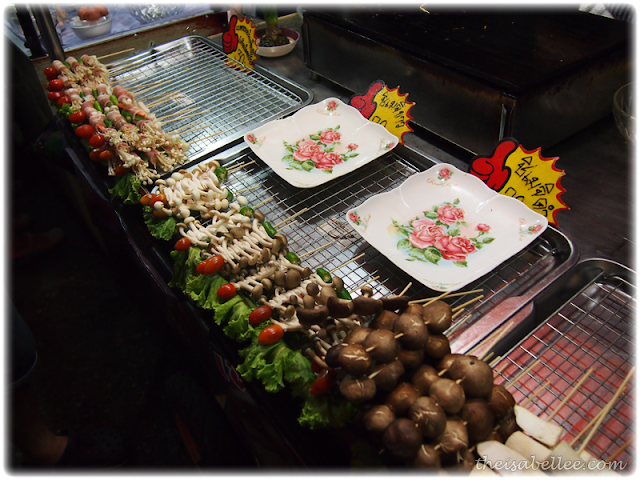 BBQ mushrooms at Hua Hin night market