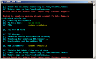 Error: Could not update local repository. Contact support.