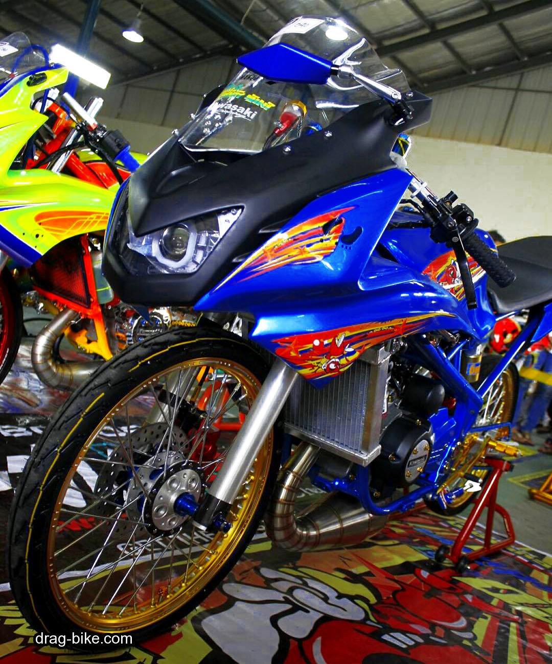 Foto Modifikasi Motor Drag Ninja R Terkeren Dan Terbaru Modifikasi