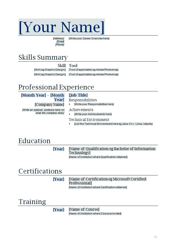 Apa Resume Format Sample - Resume Templates