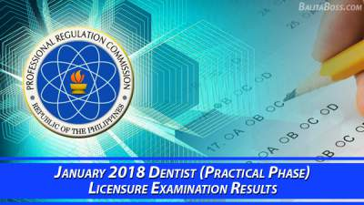 Dentist (Practical Phase) January 2018 Board Exam